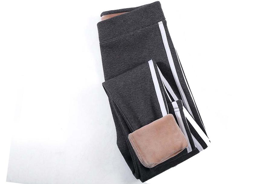 Gevoerde fleece legging - Maat L/XL - Grijs #1