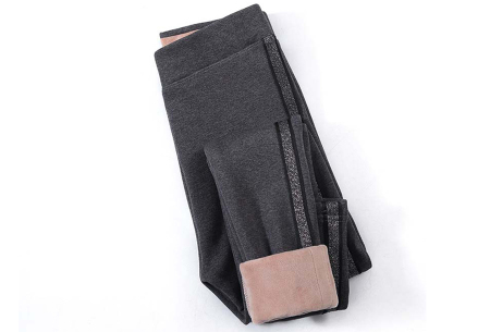 Gevoerde fleece legging | De perfecte broek voor in de winter!  Grijs #2