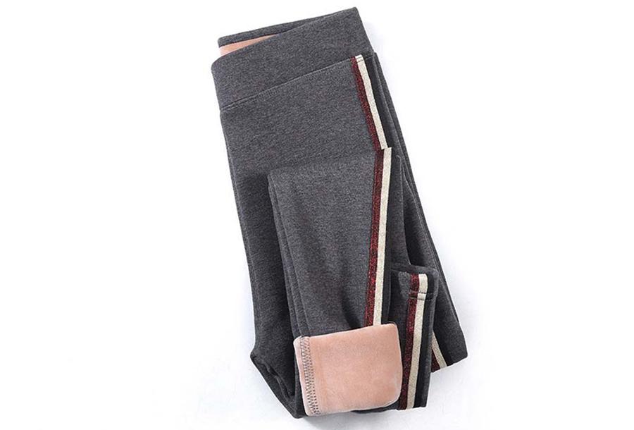 Gevoerde fleece legging - Maat L/XL - Grijs #3