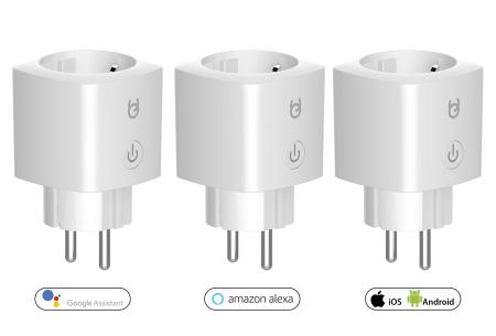 FlinQ wifi stopcontacten | Set van 3 draadloze stopcontacten