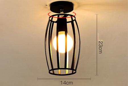 Industriële hanglampen | Voor een moderne look in iedere kamer - met gratis lichtbron! #1