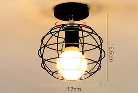 Industri�le hanglampen #3+ gratis lichron/bulb