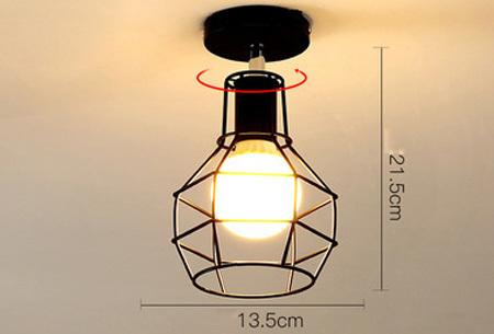 Industri�le hanglampen #4+ gratis lichron/bulb