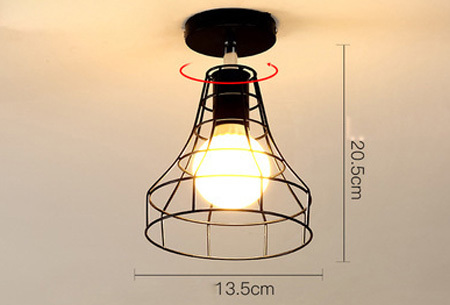 Industri�le hanglampen #7+ gratis lichron/bulb