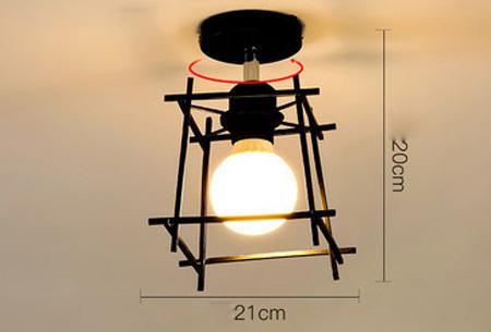 Industri�le hanglampen #8+ gratis lichron/bulb