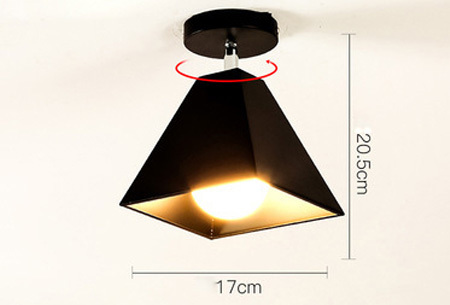 Industri�le hanglampen #9+ gratis lichron/bulb