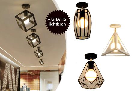 Industriële hanglampen | Voor een moderne look in iedere kamer - met gratis lichtbron!