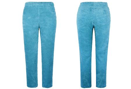 Teddy broek | Heerlijk zachte joggingbroek voor dames Turquoise