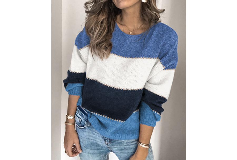 Gebreide trui - Maat XS - Blauw