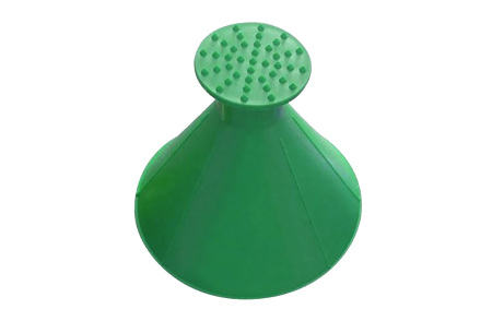 Ronde ruitenkrabber | Binnen no time schone ruiten met deze handige ijskrabber! Groen