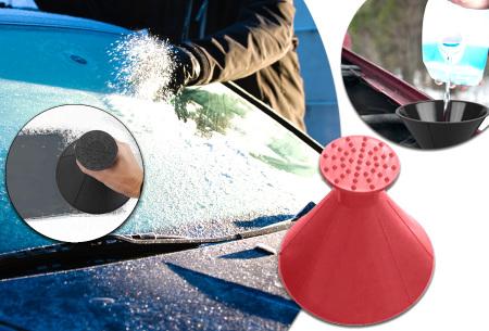 Ronde ruitenkrabber | Binnen no time schone ruiten met deze handige ijskrabber!
