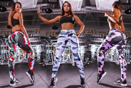 Army legging | Stevige sportlegging met hippe legerprint