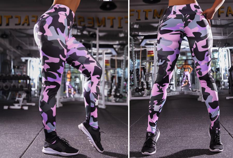 Army legging - Maat 2XL - Paars