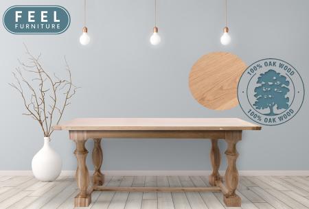 Royal Oak eettafel | Van 100% massief eikenhout