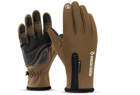 Waterdichte handschoenen | Voor heerlijk warme handen tijdens winterse activiteiten! Bruin