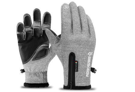 Waterdichte handschoenen | Voor heerlijk warme handen tijdens winterse activiteiten! Lichtgrijs