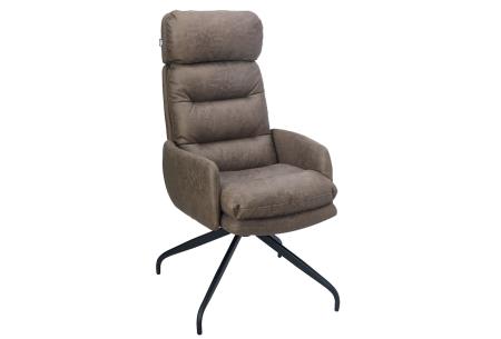 Logan relaxstoel   Gun jezelf ontspanning met deze heerlijke loungestoel  Bruin