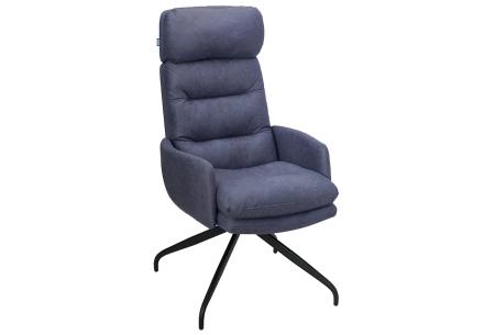 Logan relaxstoel   Gun jezelf ontspanning met deze heerlijke loungestoel  Blauw
