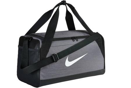 Nike sporttassen | Stevige (weekend)tassen van topkwaliteit! Zwart/grijs