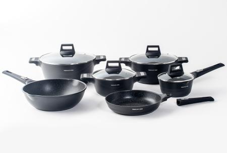 Mischler Cook 10-delige pannenset | Set van diverse pannen in 3 kleuren  Zwart