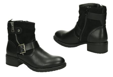 FINAL SALE: enkellaarsjes en biker boots | Alles nu slechts 9,99! Lal-bo-213 - Zwart