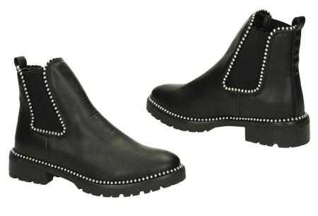 FINAL SALE: enkellaarsjes en biker boots | Alles nu slechts 9,99! Yf0530 - Zwart