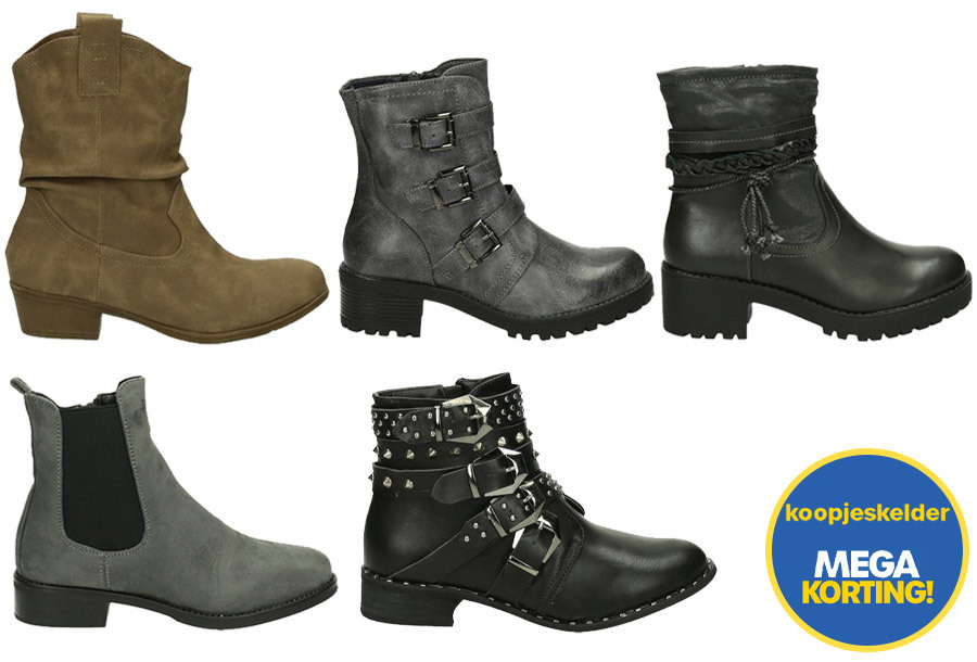 Dagaanbieding - Alle schoenen nu slechts 9,99 - OP = OP dagelijkse koopjes