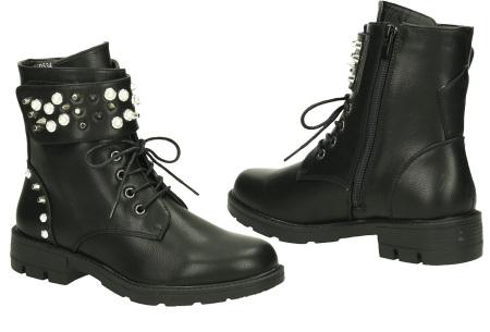 FINAL SALE: enkellaarsjes en biker boots | Alles nu slechts 9,99! Yf0534 - Zwart