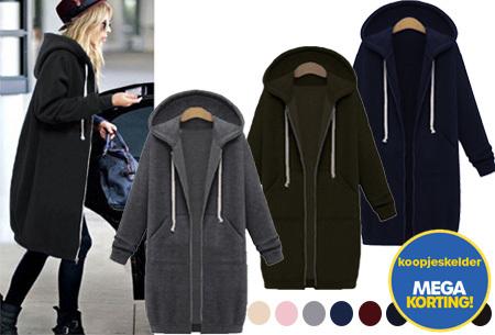 Lang hoodie vest | Heerlijk warm en comfortabel vest met fleece binnenzijde - Nu slechts 14,99!