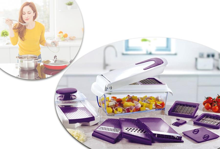 Dagaanbieding - 38% korting - Cucinapro hakker en snijder dagelijkse koopjes
