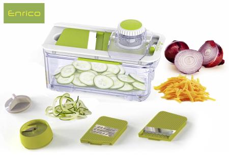Enrico 4-in-1 groentesnijder | Voor o.a. perfecte plakjes en reepjes groente en fruit