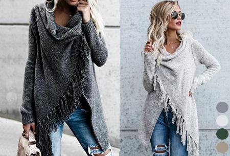 Knitted Tassel vest | Warm gebreid damesvest met franjes