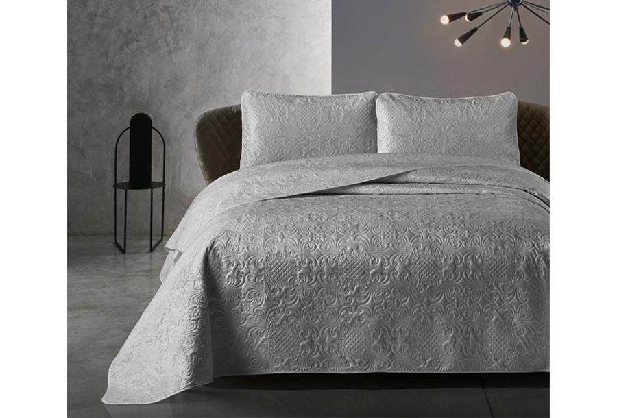 Velvet bedsprei van Dreamhouse Maat 260 x 250 cm - Antraciet