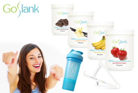GoSlank afslankshakes voor 1 maand   Snel en op een gezonde manier afvallen - Met GRATIS shaker en vetpercentagemeter!