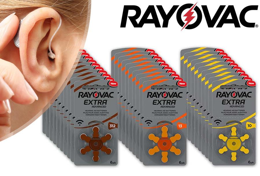 -57% - Rayovac gehoorapparaat batterijen 60-pack