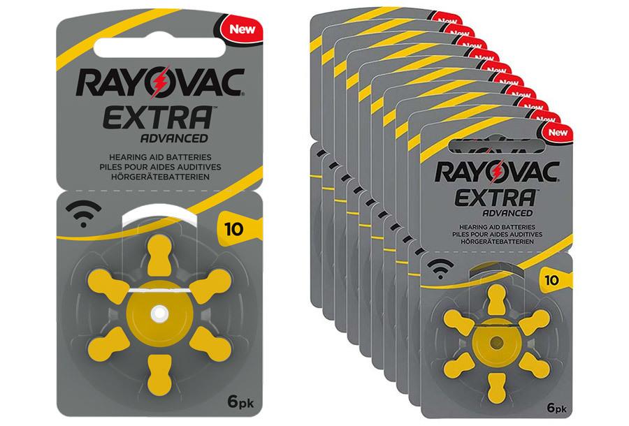 Rayovac gehoorapparaat batterijen 60-pack Type 10 - 60-pack Rayovac gehoorapparaat batterijen