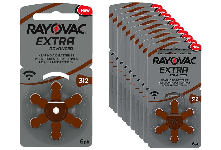 Rayovac gehoorapparaat batterijen 60-pack Type 312 - 60-pack Rayovac gehoorapparaat batterijen