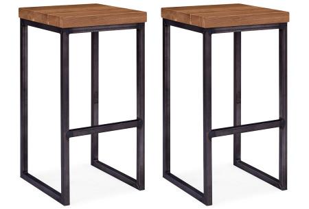 Feel Furniture bartafel of barkrukken | Gemaakt van eikenhout en staal - Modern & industrieel Barkrukken