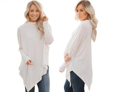 Oversized sweater | Verdoezelt de probleemzones en geeft een trendy look Wit
