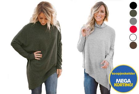 Oversized sweater | Verdoezelt de probleemzones en geeft een trendy look