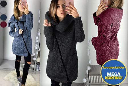 Oversized vest Maat XL - Framboos