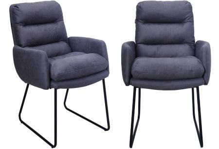 Stoel Collin   Heerlijk comfortabele eetkamerstoelen Blauw