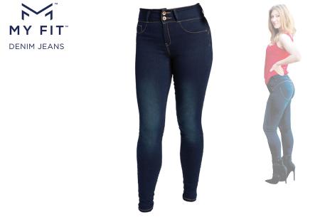 Denim Look legging | Een jeans en legging in één - Dé broek die altijd past! Maat 1