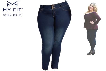 Denim Look legging | Een jeans en legging in één - Dé broek die altijd past! Maat 2
