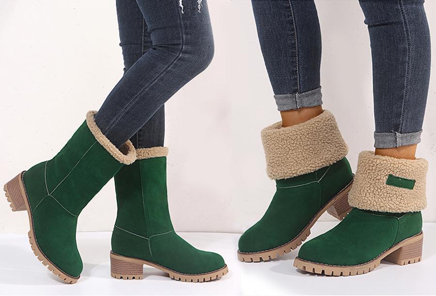 Gevoerde boots Maat 41 - Groen