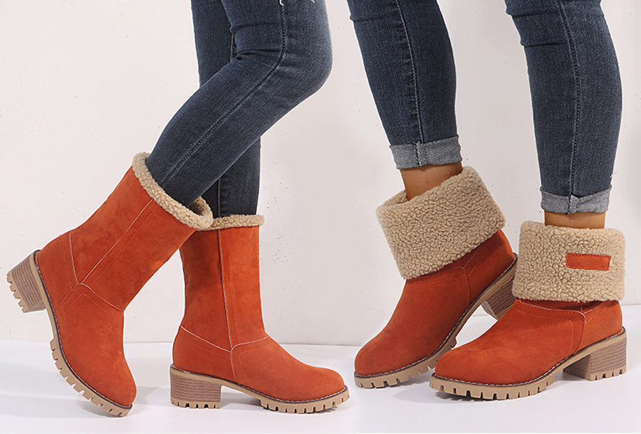 Gevoerde boots Maat 41 - Roestbruin