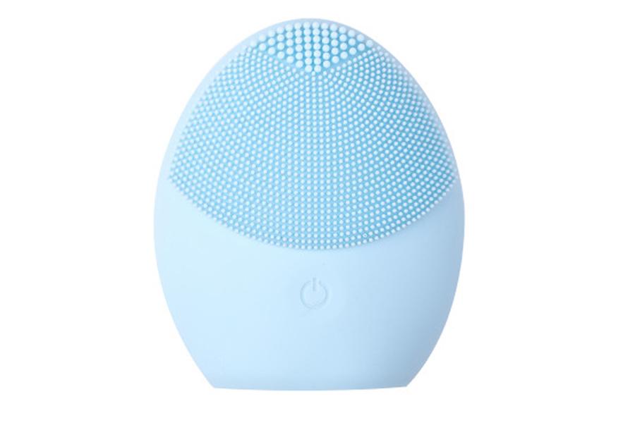 Elektrische gezichtsreinigingsborstel Lichtblauw
