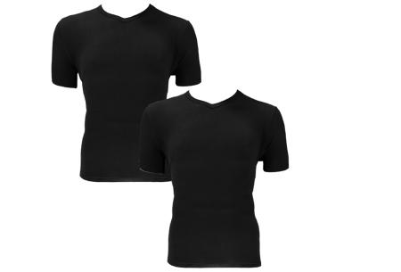 2-pack Bamboo T-shirts | Basic herenshirts van een duurzame bamboemix Zwart