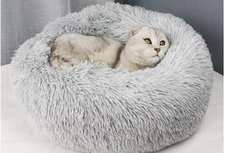 Katten- en hondenmand | Harige donut voor huisdieren in 6 maten en 9 kleuren!