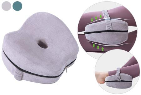Orthopedisch kniekussen | Verbetert de bloedcirculatie en helpt tegen knie-, heup- en rugklachten!